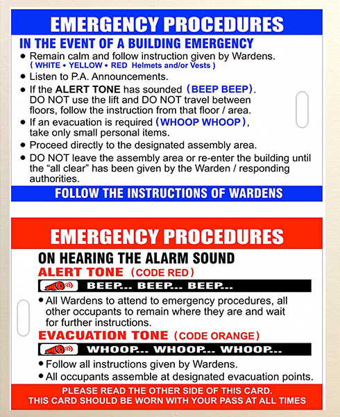 Emergency management posters crisis communication for Fire evacuation procedure template free